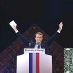 New French President Emmanuel Macron Celebrate Victory In Front Of Pyramid With All Seing Eye