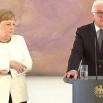 Angela Merkel Seen Shaking AGAIN During Ceremony