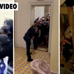 Video Shows ANTIFA & BLM Thugs escorted by Police Inside the capitol
